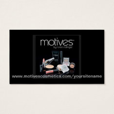 Motives® Cosmetics Distributor Business Card at Zazzle
