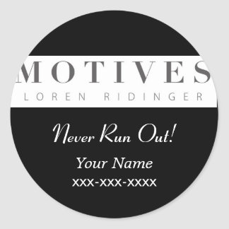 Motives Cosmetics Product Reorder Sticker