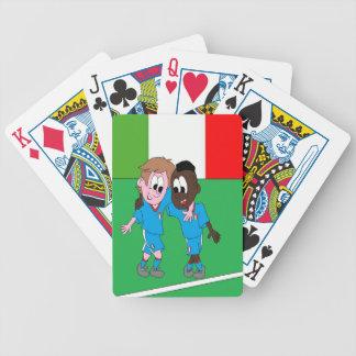 Motivo banderas Italia y jugadores italianos Cartas De Juego
