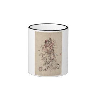 Motivo de consumición del samurai circa 1800s tazas de café