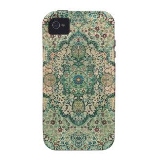 Motivo de la alfombra persa del diseño floral del