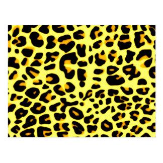 Motivo de la piel del leopardo tarjeta postal