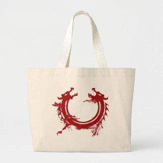 Motivo del dragón bolsa tela grande