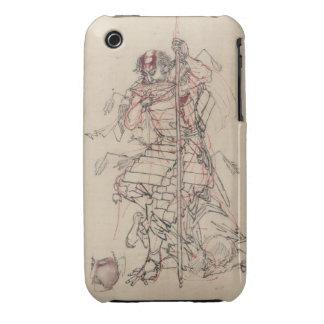 Motivo o Nomu (el guerrero herido) iPhone 3 Protector