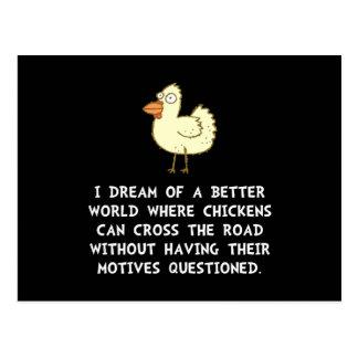 Motivos del pollo postal