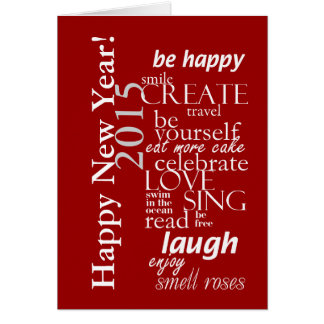 motivtional inspirational happy new year 2015 greeting card