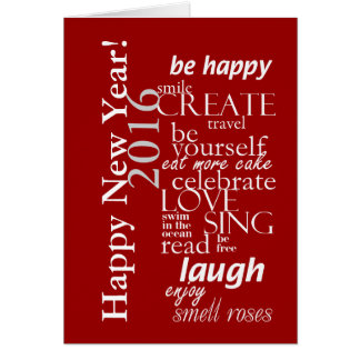 motivtional inspirational happy new year 2016 card
