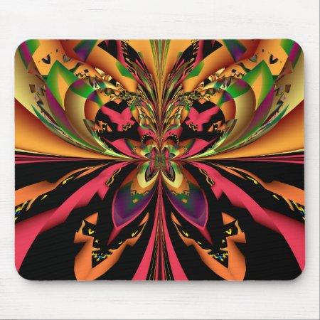 Motley Butterfly Fractal Art Mousepad