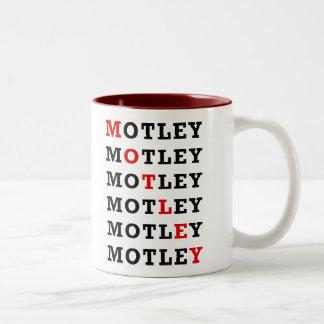 Motley Red, mug, black Two-Tone Coffee Mug