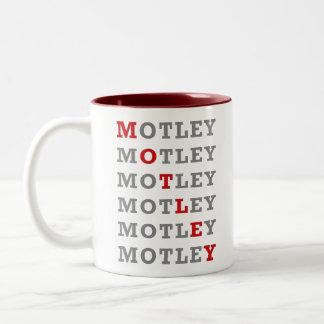 Motley Red, mug, white Two-Tone Coffee Mug