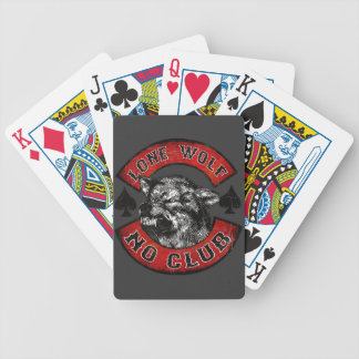 Moto addict bicycle playing cards