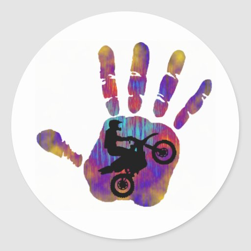 Moto Always Ready Round Sticker