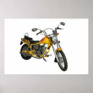 Moto amarilla posters