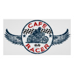 Moto Cafe racer Poster