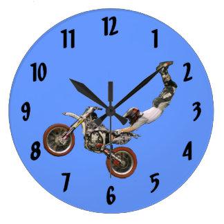 moto cross round wallclocks