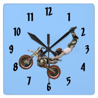 moto cross wall clocks