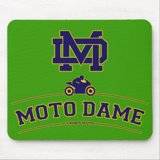 Moto Dame Mouse Mats