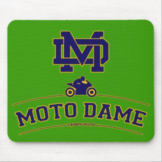 Moto Dame Mouse Pad