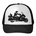 moto de la motocicleta del motorista goldwing gorras
