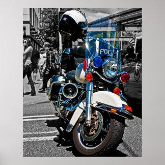 Moto de la policía póster