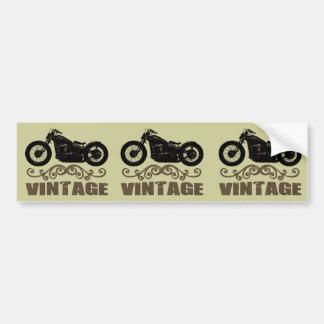 Moto del vintage pegatina para auto