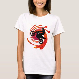Moto Fire Tracks T-Shirt