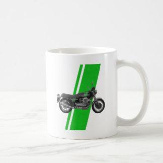 Moto Guzzi - verde del vintage 1000S Taza De Café