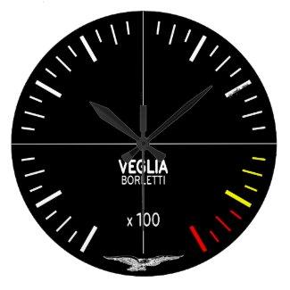 Moto Guzzi Wall Clock - 850 T3 Black Tachometer