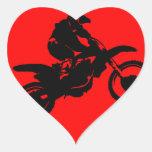 MOTO IN RED HEART STICKER