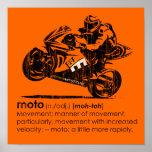 MOTO - La definición (vintage) Posters
