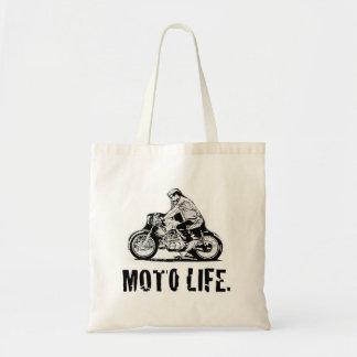 """moto life"" motorcycle lover tote bag"