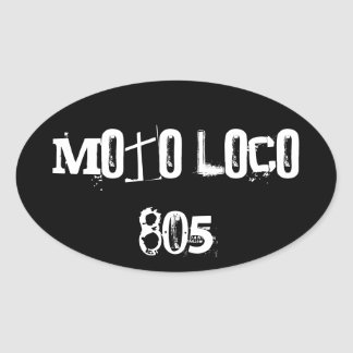 "Moto Loco ""805"" Sticker"