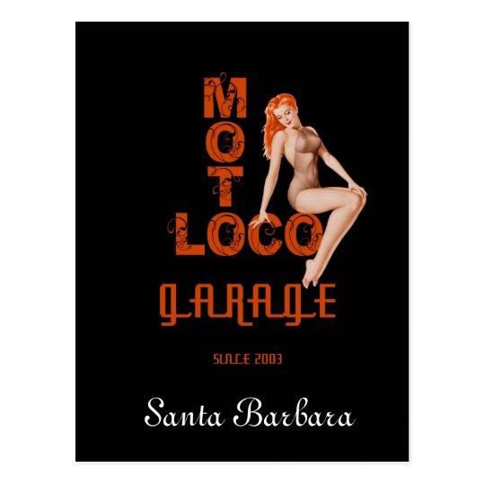 "Moto Loco ""Santa Barbara"" Postcard"