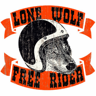 Moto lone wolf photo sculpture