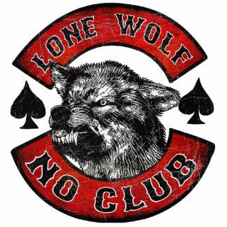 Moto lone wolf rider photo sculptures