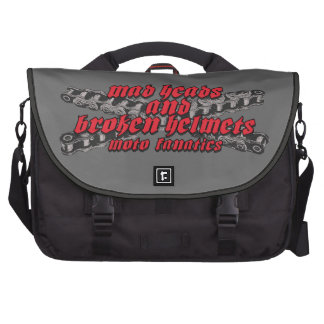 Moto madness laptop commuter bag