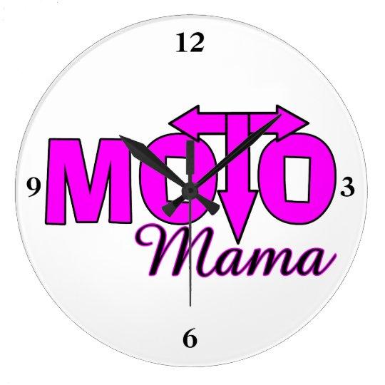 Moto Mama Large Clock