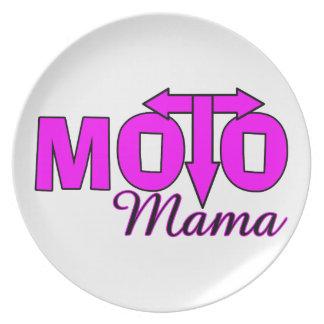 Moto Mama Party Plates