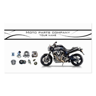 Moto parts stylish business card