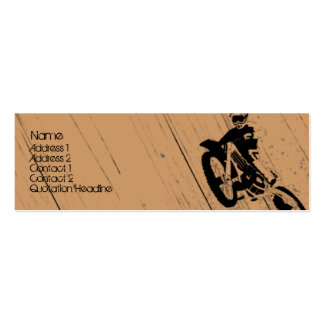 Moto-Psycho Double-Sided Mini Business Cards (Pack Of 20)
