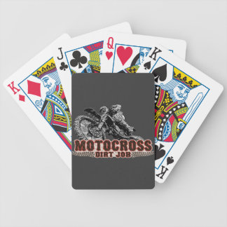 Moto racer bicycle playing cards