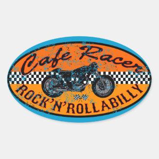 Moto racer oval sticker