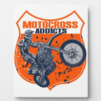 Moto racer plaque