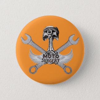 Moto racers pinback button