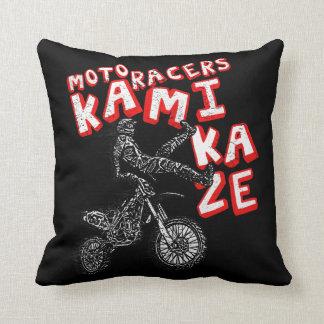 Moto racers throw pillow