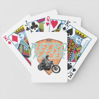 Moto racing bicycle playing cards