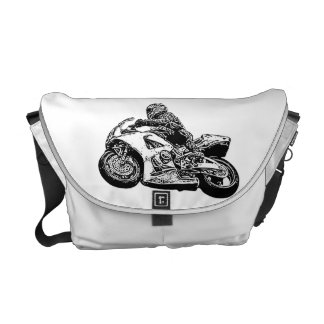 Moto racing messenger bags