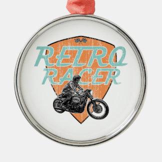 Moto racing metal ornament