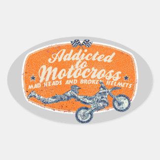 Moto racing oval sticker