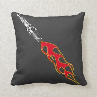 Moto racing throw pillow